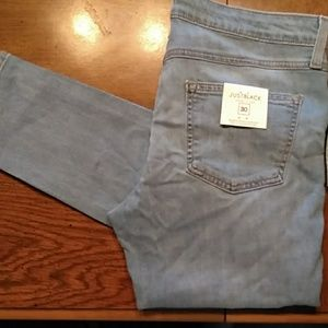 Just Black relaxed cami crop jeans size 30